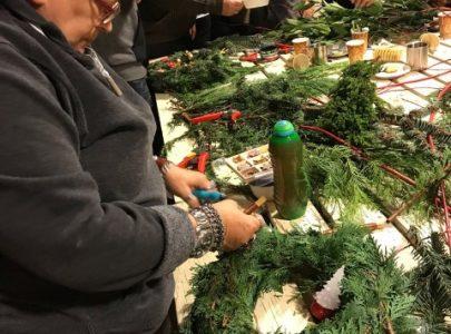 Terugblik kerstkransen maken