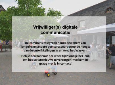 Wij zijn op zoek naar vrijwilliger(s) digitale communicatie